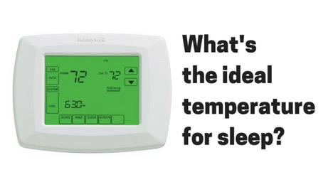 Ideal temperature for sleeping